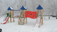 Stock Video Footage of Children playground during winter