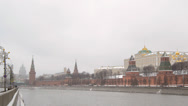 Stock Video Footage of MOSCOW, RUSSIA - December 22: Winter view of the Moscow Kremlin