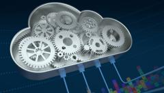 Abstract cloud computing concept Stock Footage