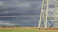 Stock Video Footage of High voltage power lines