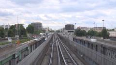 Timelapse liikenne auto katu metron syötön ihmiset matkustavat nauttivat loma Pa Arkistovideo