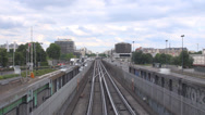 Stock Video Footage of Timelapse traffic car street metro train pass people travel enjoy holiday Paris