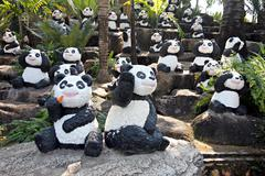 Panda statue. Stock Photos