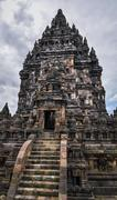 hindu temple prombanan complex in yogjakarta in java - stock photo