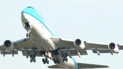 4K KLM Cargo airplane taking off Stock Footage