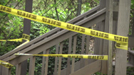Stock Video Footage of home invasion robbery yellow tape
