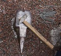 Hammer anvil Stock Photos