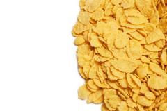 Cornflakes background and copy space Stock Photos