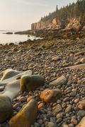 Stock Photo of Morning on Acadia Boulder Beach