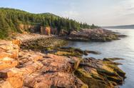 Stock Photo of Acadia Morning at Monument Cove