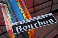 Stock Photo of Bourbon Street Neon Askew