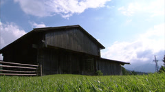 Barn shot from low angle Stock Footage