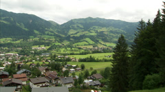 Kitzbühel mountain valley Stock Footage