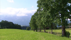 Kitzbühel farmland Stock Footage