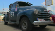 Stock Video Footage of Chevrolet Pick-Up Advanced Design 1947, retro vintage car model