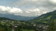Kitzbühel timelapse with gondola Stock Footage