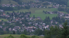 Kitzbühel city centre from hillside Stock Footage
