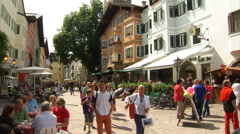 Timelapse of Kitzbühel town centre Stock Footage