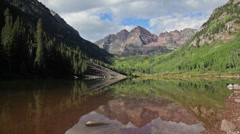 Maroon Bells Summertime Stock Footage