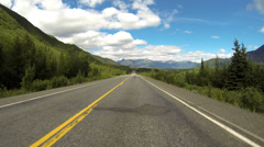 Driving POV Alaska Highway 1 Tok Cutoff 3 of 8 - stock footage