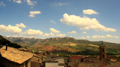 Time Lapse a rural village in the mountains of the Spanish Pyrenees Stock Footage