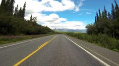Driving POV Alaska Highway 1 Tok Cutoff 4 of 8 - stock footage