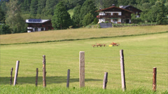 Kitzbühel farmland and houses Stock Footage