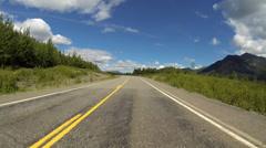 Driving POV Alaska Highway 1 Tok Cutoff 5 of 8 - stock footage