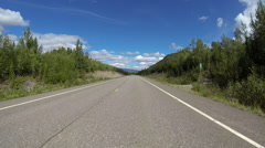 Driving POV Alaska Highway 1 Tok Cutoff 7 of 8 - stock footage