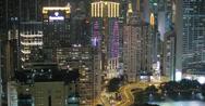 Stock Video Footage of 4K video of Causeway Bay at night in Hong Kong