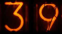 Nixie digital counter 4k Stock Footage