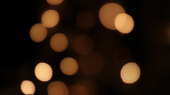 Defocused abstract background of lights, type Bokeh, Christmas, festive ... Stock Footage