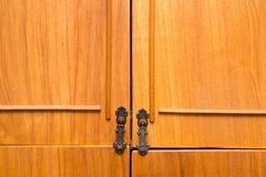 Background of an old cabinet Stock Photos