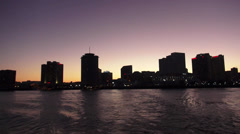 Skyline of New Orleans in the evening Stock Footage