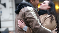 Young couple kissing Stock Footage