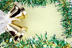 decorations ribbon for christmas and new year. - stock photo