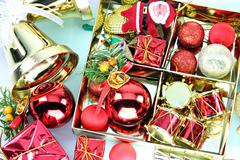 Accessory decorations of christmas or new year. Stock Photos