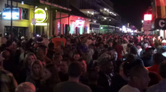 Big Party in New Orleans French Quarter - stock footage