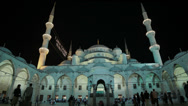 Stock Video Footage of The courtyard of the Sultanahmet Camii Blue Mosque in Istanbul in HD