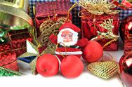 Stock Photo of santa doll and accessory decorations of christmas day.