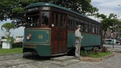 Brazilian Heritage Tramway System. Santos, Sao Paulo, Brazil. 38 Stock Footage