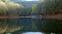 Beautiful Autumn View of Lagoon - Zoom Out Stock Footage