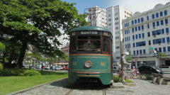 Brazilian Heritage Tramway System. Santos, Sao Paulo, Brazil. 39 Stock Footage