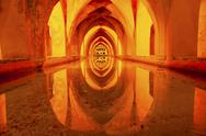 Stock Photo of baths banos of dona maria de padilla alcazar royal palace seville spain