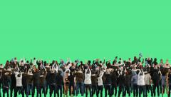 Crowd of people. Green screen. - stock footage