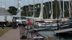 Antigua Island Nelsons Dock marina luxury yachts HD 1182 Stock Footage