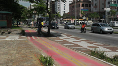 Traffic in the city. Santos, Sao Paulo, Brazil. 41 Stock Footage