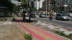 Traffic in the city. Santos, Sao Paulo, Brazil. 41 - stock footage