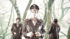 Nazi snow ww2 nazi command Stock Footage