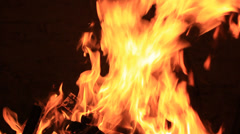 Beautiful real fire flame - stock footage